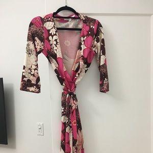 DVF Julian wrap dress size 8